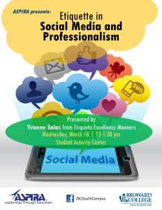 ASPIRA presents - Etiquette in Social Media