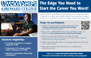 EDGE Orientation on Thursday, March 19th at 2PM in building 68, room 100