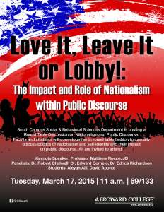 Love It, Leave It or Lobby!: The Impact and Role of Nationalism within Public Discourse