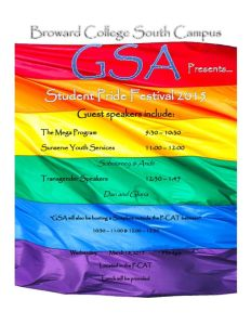 GSA Student Pride Festival - Wed., March 18