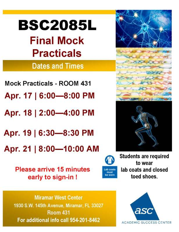 BSC2085L_FINAL MOCK PRACTICALS