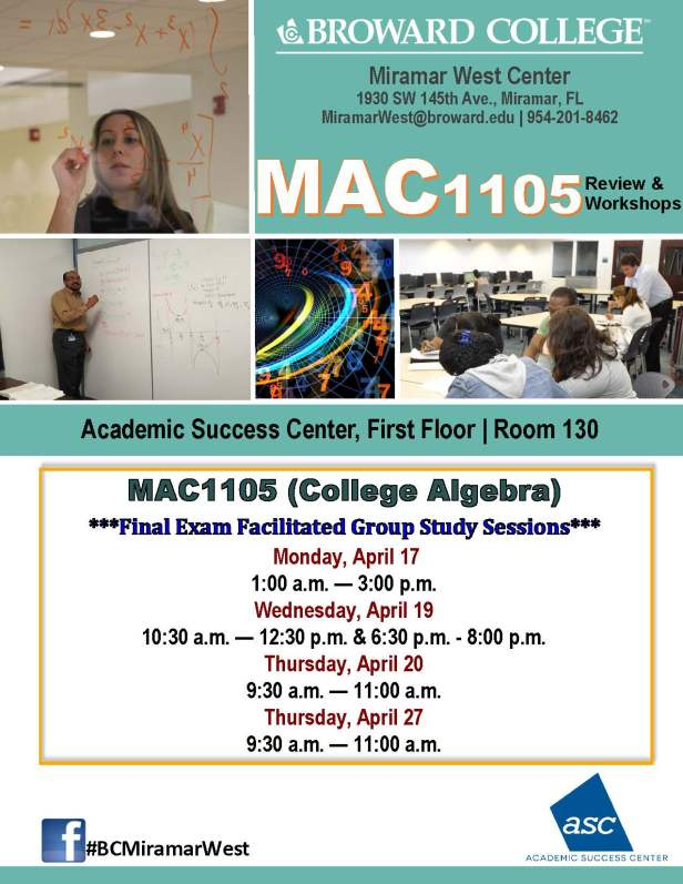 MAC1105_FINAL EXAM REVIEW_MWC__APRIL 17-19-20-27