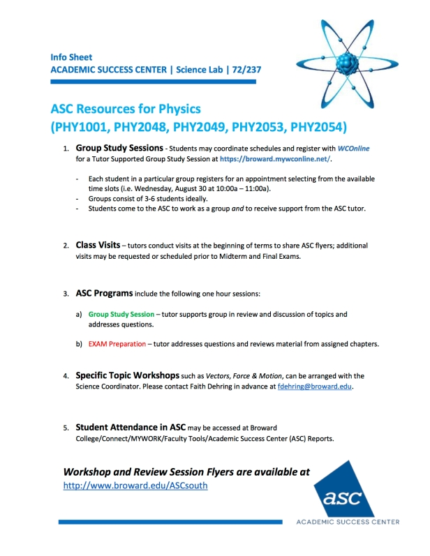PHYSICS RESOURCES Science Dept Breakout Aug2017_v1