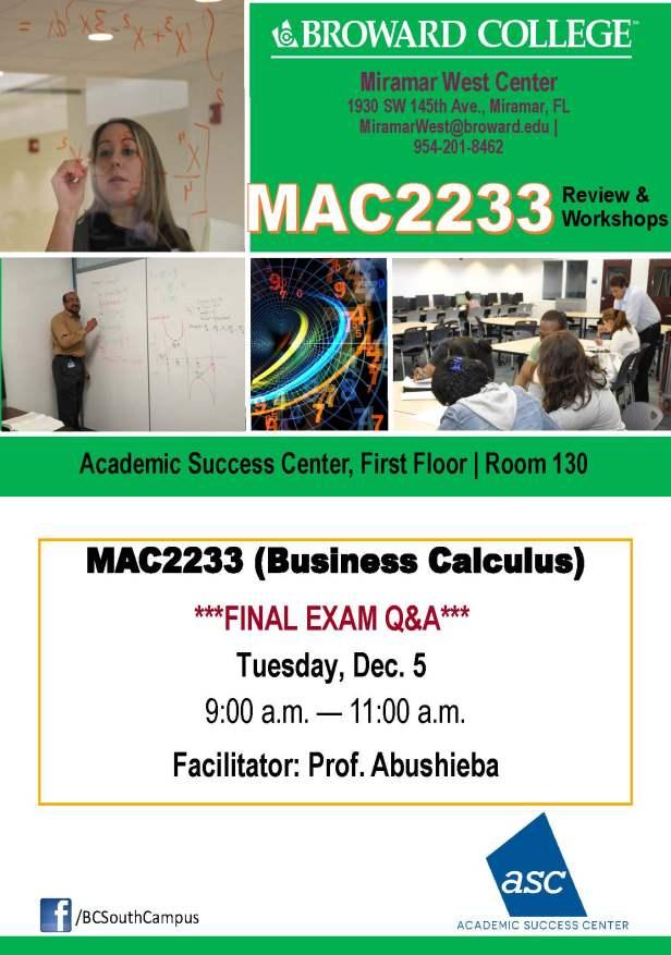 MAC2233_GROUP STUDY SESSION_MWC_ _DEC 5