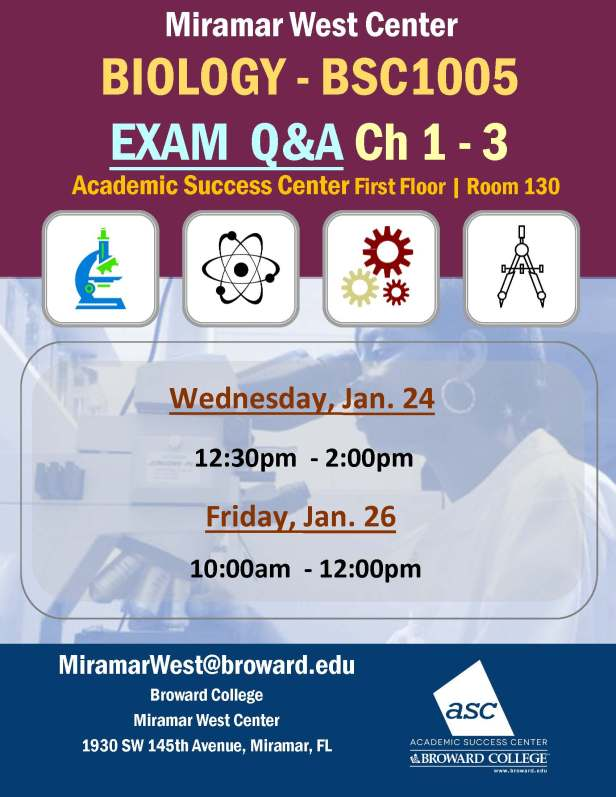 MWC_ BSC1005_HARKAS_EXAM REFVIEW CH 1-3 REVIEW BROCHURE___JAN 24-26