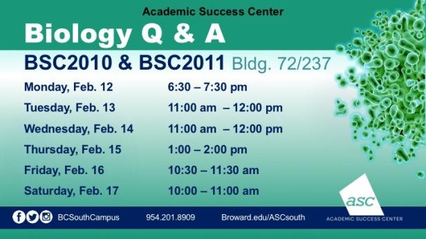 Biology_QA_Flyer_BSC2010_BSC2011