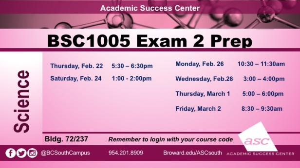 Exam 2 BSC1005 PREPS