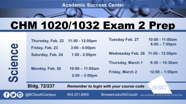Exam 2 CHM1032 PREPS