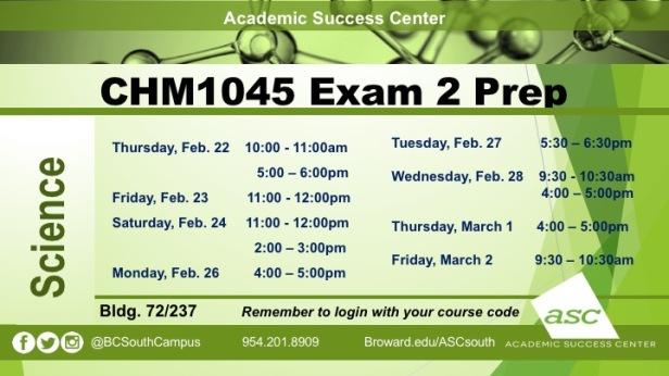 Exam 2 CHM1045 PREPS