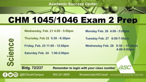 Exam 2 CHM1045 PREPS2