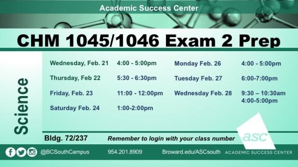 Exam 2 CHM1046 PREPS