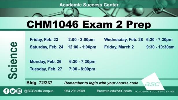 Exam 2 CHM1046 PREPS2