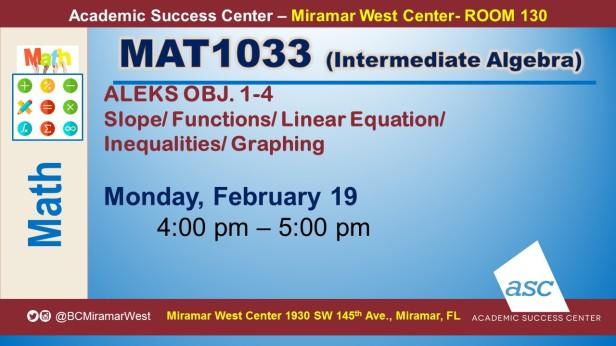 MAT1033_GROUP STUDY SESSION_MWC_ FEB 19_SLIDE