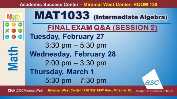MAT1033_GROUP STUDY SESSION_MWC_ FEB 27-28-MAR 1_SLIDE