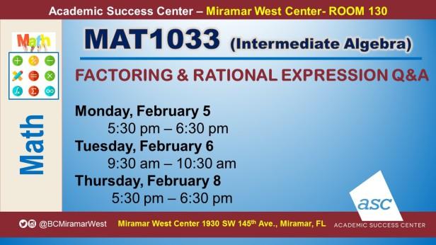 MAT1033_GROUP STUDY SESSION_MWC_ FEB 5 6 8_SLIDE