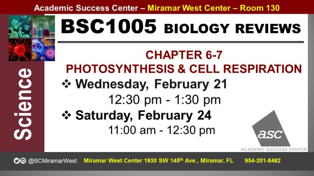 MWC_ BSC1005_ALEGRE_EXAM REVIEW CH 6-7 REVIEW BROCHURE___FEB 21-24_SLIDE