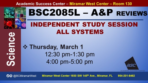 MWC_ BSC2085L_ALL_INDEPENDENT STUDY SESSION_ REVIEW BROCHURE___MARCH 1