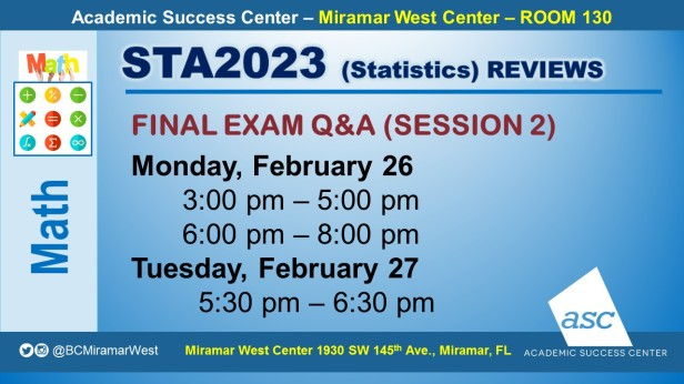 STA2023_GROUP STUDY SESSION_MWC_ FEB26-27_SLIDE
