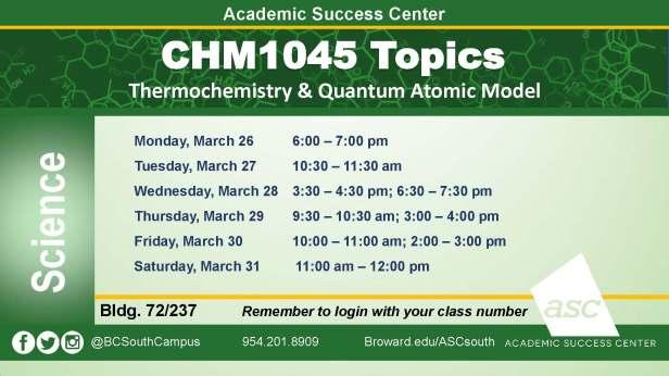 CHM1045 Topics_ March2018