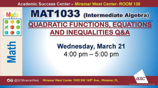 MAT1033_GROUP STUDY SESSION_MWC_ MARCH 21_SLIDE