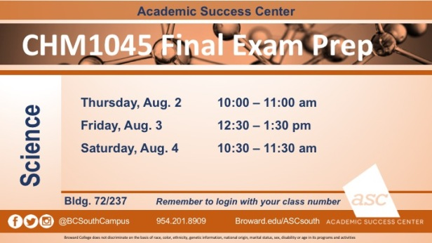 CHM1045 FINAL Exam Prep AUG2018