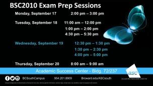 17Sep-BSC2010 Exam Prep Sept17