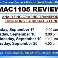 MAC1105_EXAM REVIEW_MWC_ SEP 17-18-19-20_SLIDE