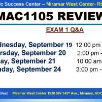 MAC1105_EXAM REVIEW_MWC_ SEP 19-20-21-24_SLIDE