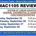 MAC1105_EXAM REVIEW_MWC_ SEP 25-27-28_SLIDE
