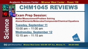 MWC_ CHM1045_all_REVIEW EXAM 1 BROCHURE___SEP 11-12_SLIDE
