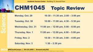 CHM1045 Exam Prep_W11