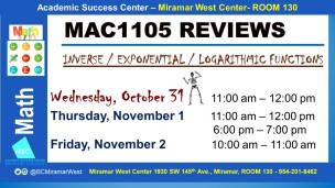 MAC1105_EXAM REVIEW_MWC_ OCT 31 NOV 1-2 _SLIDE