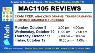 MAC1105_EXAM REVIEW_MWC_ OCT 8-10-11-12 SLIDE