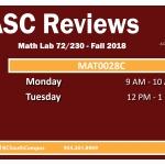 MAT0028C Fall 2018 TV