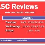 STA1001 Fall 2018 TV