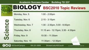 BSC2010 Topic Reviews W12