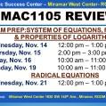 MAC1105_EXAM REVIEW_MWC_ NOV 14-15-16-19-21 _SLIDE