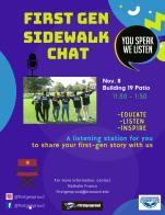 Sidewalk Chat flyer